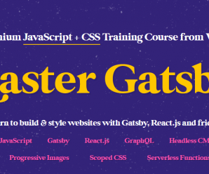 [WesBos] Master Gatsby (Master Package)