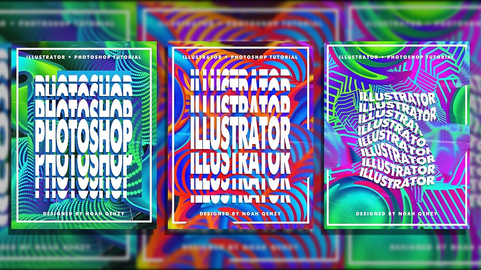 [SkillShare] Create Colorful Pattern Posters in Illustrator and Photoshop